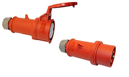 SET MENNEKES CEE Kupplung und Stecker 16A; 5-polig 6h 400 V Starkstrom Kupplung Industriequalittät