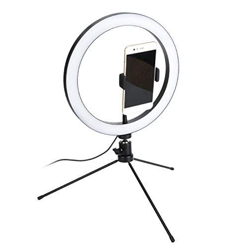 Lámpara de Anillo de Video Regulable 26cm LED Anillo de luz LED de Video, en Vivo, Banco de energía