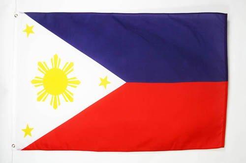 AZ FLAG Flagge Philippinen 150x90cm - PHILIPPINISCHE Fahne 90 x 150 cm feiner Polyester - flaggen