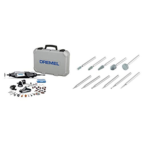 Dremel 4000-4/34 Variable Speed Rotary Tool Kit & 689-01, Carving and Engraving Rotary Tool Accessory Kit, Perfect for use Wood, Metal, and Glass (11 Piece)