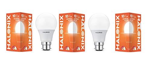 Halonix B22 10-Watt Led ASTRON Plus (Pack of 3, White, Round)