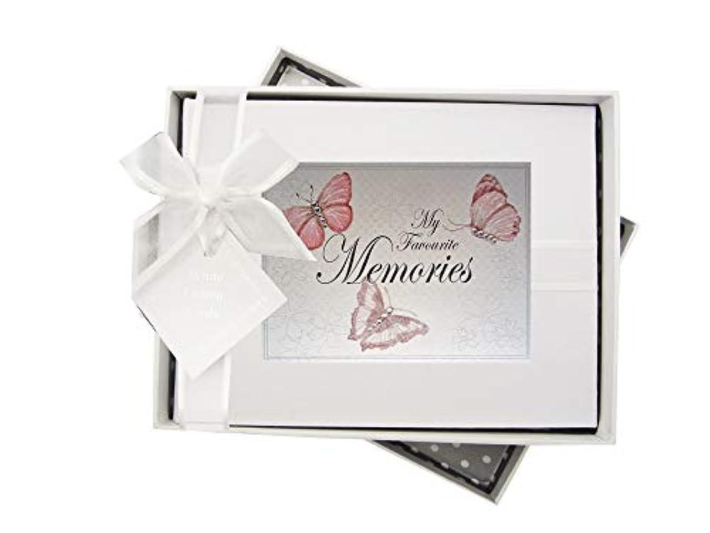 White Cotton Cards Favourite Memories Butterflies Photo Album BU1S