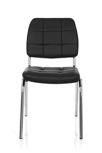 hjh OFFICE 706800 silla de confidente PICENO V piel sintética negro silla visitante