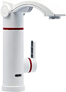 MWPO Basin Tap European Style ABS Engineering Plastics Spray Paint Kitchen Bathroom Hot and Cold Instant Type Electric Faucet Fast Heat Water Heater (Color : White)