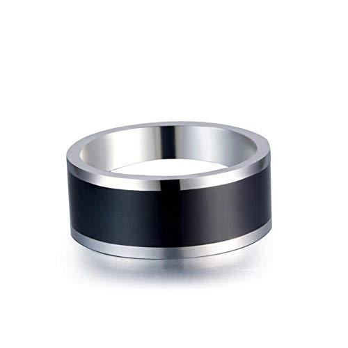 JJZXLQ NFC Resistente Al Agua Inducción Inteligente Unisex Anillo Adecuado para El Anillo De Desgaste del Anillo De Múltiples Funciones Elegante Androide,9