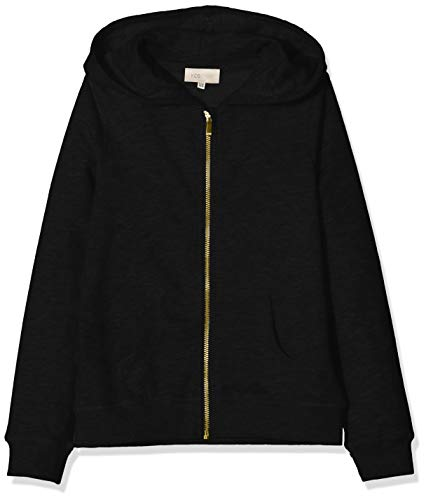 ONLY Mädchen KONBEAT L/S Hood NOOS Kapuzenpullover, Schwarz (Black Black), 146 (Herstellergröße: 146/152)