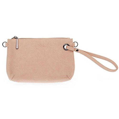 Biba · BLoveBeau Kunstleder-Tasche | Handtasche | Clutch | Unterarmtasche 23cm · natur