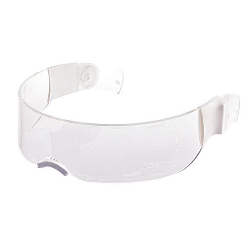 yahede Light Up LED Luminous Glasses Futuristic Electronic Visor Cool Glasses Punk Sun Visor Glasses para Navidad Halloween Fiesta Salvaje Baile Fiestas locas Raves Tamaño Libre Blanco Gorgeous
