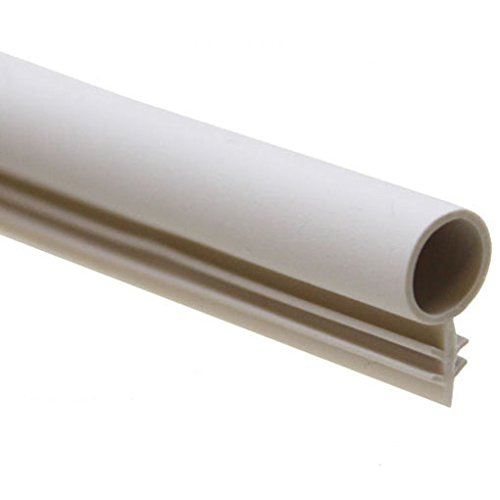 """1/4"""" Window Kerf Bulb Weatherstrip Mount Slot Seal in 2 Colors and 6 Lengths (100, White)"""