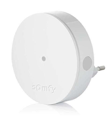 Somfy 2401495 Alarm Radio Extender draadloze bereik versterker voor beveiligingssysteem plug en play, wit