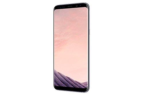 Samsung Galaxy S8, Smartphone libre de 5.8 QHD+ (4 G, Bluetooth, Octa-Core S, 64 GB memoria interna, 4 GB RAM, camara de 12 MP, Android, version española) gris orquidea