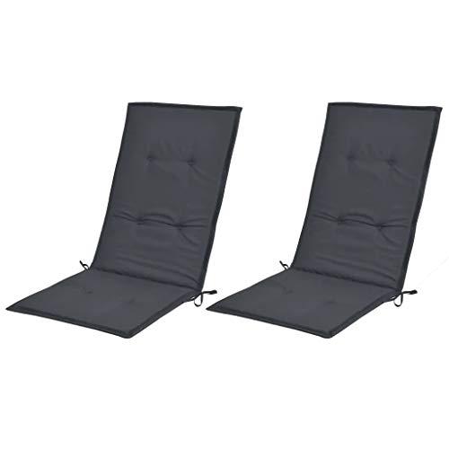 CFG Hochlehner Klappstuhlauflagen für Gartenstühle 2 Einheiten anthrazit 120x50x3cm