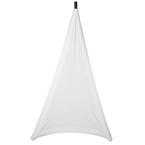 Embroze Lightstretch WHITE - 3 Sided Tripod Speaker Stand Scrim Cover (Single)