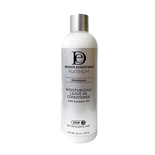 Design Essentials Platinum Moisturizing Leave-In Conditioner with Coconut Oil 12Oz