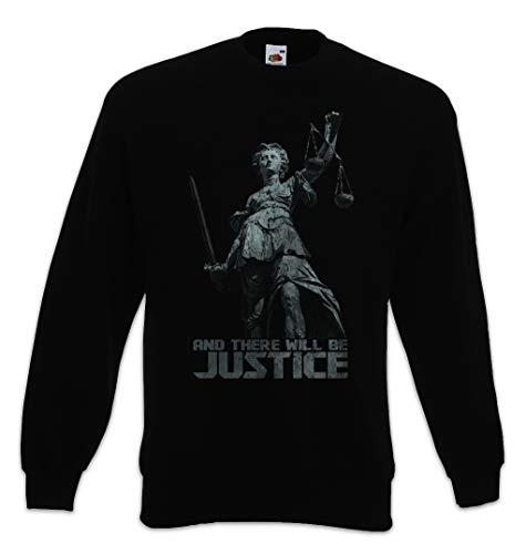 Urban Backwoods Justitia I Sweatshirt Pullover Schwarz Größe M