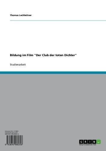 """Bildung im Film """"Der Club der toten Dichter"""""""