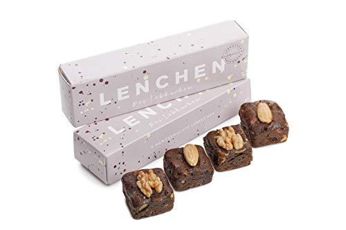 LENCHEN - Der Lebkuchen - 2x 4er Box I Leckere Lebkuchen nach uraltem Familienrezept mit Mandeln und Walnuss I Weihnachtsgebäck I Lebkuchen-Pralinen I Lebkuchen Geschenkbox