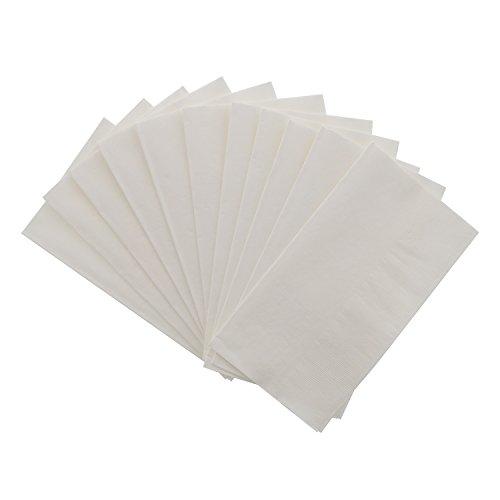 Royal Serviettes de table blanches, Lot de 125