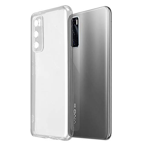 ROVLAK Hülle für Vivo Y70(2020) Hülle Silikon Superdünne Leichte Handyhuelle Kristallklare Tasche Stoßfeste Kratzfeste Transparente Schutzhuelle TPU Handytasche für Vivo Y70(2020)