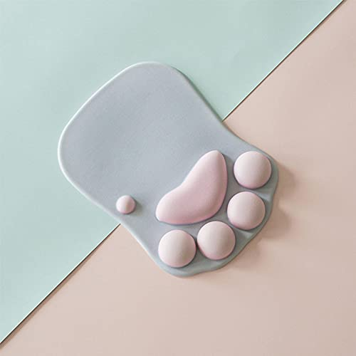 YIJIUSIER 3D Cat Claw Mouse Pad,Cat Paw Mouse Pad with Wrist Rest,Portable Silicone Mouse Pad with Wrist Rest,Ergonomic Gel Gaming Mouse Pad Pc Accessories Grey