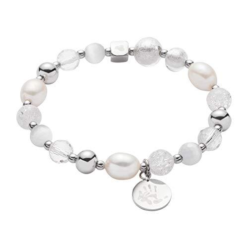 JEWELS BY LEONARDO Damen-Armband Hope VII Darlin's, Edelstahl mit unterschiedlichen Glas- und Kristallperlen, Länge 70 mm, 016506