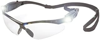 LED PmXtreme Safety Glasses Clear With LED Light Temples