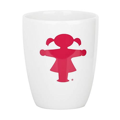 Ampelmann Wachmacher Tasse weiß mit Ampelfrau pink ca. 250 ml, Kaffeetasse Kaffeepott Tasse Cappuccino