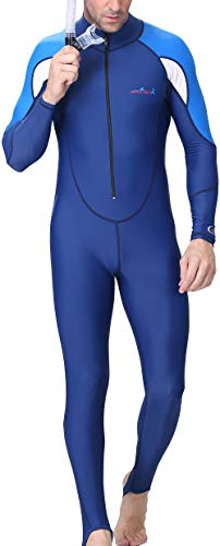 DIVE&SAIL Men Full Body Westuit UPF 50+ UV Protection Fast Dry Dive Skin Suit