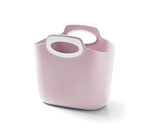 GF GARDEN for 2 Everyday Einkaufstasche aus Kunststoff, Behälter mit Henkeln, farbig, Pink Powder, Groß