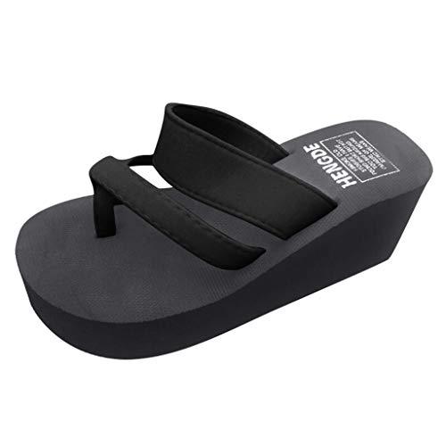 LANSKIRT Sandalias Cuña para Mujer Verano, Zapatillas Playa Zapato Sandalias Antideslizantes Sandalias Planas