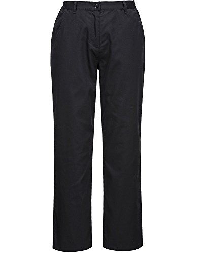 Portwest - Pantalon de Cuisine Femme Noir - 2XL, Noir