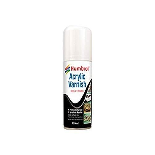 Humbrol Acrylic Spray Gloss Shade 35 Paint Model Kit, 150ml, Varnish
