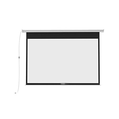 YUNGE Motorized Projector Screen 100 Inch 16:10 HD Screen, Wall/Ceiling Mounted Electric Movie Screen, Great for Home Office Theater TV Use (Wire Control Switch),100inch 16:10