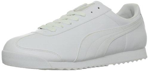PUMA Men's Roma Basic Fashion Sneaker, White/Light Gray - 11 D(M) US