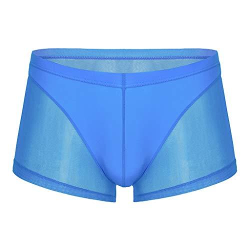 Boxer Männer Seide Sexy Transparent Boxer Shorts U Konvexen Penis Pouch Atmungsaktive Unterwäsche Männlichen Nahtlose Sex Höschen