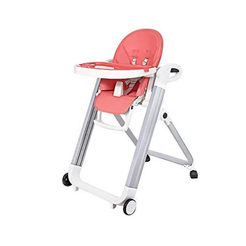 Baby kinderstoel, opvouwbare verstelbare voerstoel met wiel, voor eetkamer woonkamer baby 6 maanden tot 5 jaar oud babyvoeding handelshotel