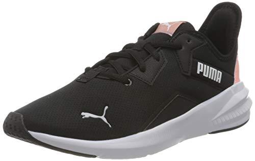 PUMA Platinum Wn's, Zapatillas de Gimnasio Mujer, Negro Blanco Elektro Peach, 42.5 EU