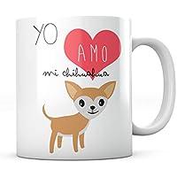 PANISCUS Taza para Regalar Yo Amo mi Chihuahua Chiguagua I Love Yo Quiero Regalo para Amigo Invisible Mascota Perro