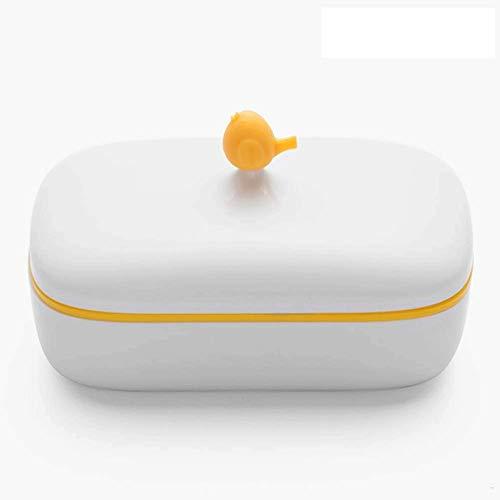 JYDQM Caja de desagüe for baño de Caja de jabón con Tapa Soporte de jabón Lindo for baño portátil (Color : A)