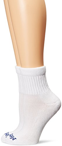 MediPeds Women_s Diabetic Quarter Socks with Non-Binding Funnel Top 2 Pairs  White  7-10