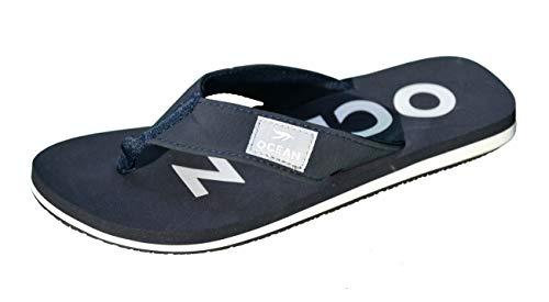 MADSea MADSea Damen Herren Zehenstegpantolette Ocean Zehentrenner Sandale dunkelblau weiß, Größe:41 EU, Farbe:dunkelblau/weiß