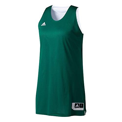 adidas Womens Reversible Crazy Explsive Jersey Tank, Mujer, Multicolor (Dark Green/White), M
