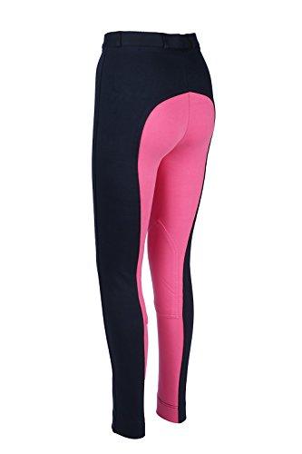 William Hunter Equestrian Damen Reithosen, aus weichem Stretch, Größen erhältlich, Gr.34 (UK6), Hüfte 61cm, Navy/Pink