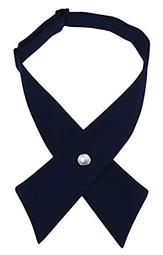 SISIDI Girls' Criss-Cross Bow Ties, Girls' School Uniform (Navy Blue)