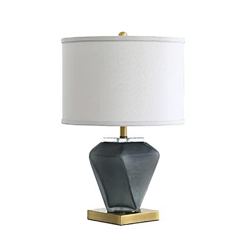 Lampara Mesilla Lámpara de mesa de noche de dormitorio Lámparas de artesanía acristaladas modernas Adecuado para el hotel Showroom Hall Sala de estar Lámpara de mesa de vidrio E27 Lámpara Mesa