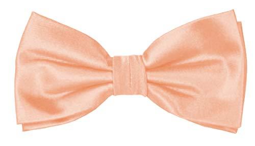 ADAMANT Herren Fliege Apricot Vorgebunden in Klassischer Form, Apricot, Halsweite ca. 33-50 cm