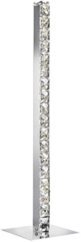 Moderne LED Stehleuchte in Chrom 27xLED 4,8 Watt 230V aus Metall & Glas Einfache Stehleuchte warmweies Licht Schlafzimmer Wohnzimmer Esszimmer Lampe Leuchten Beleuchtung
