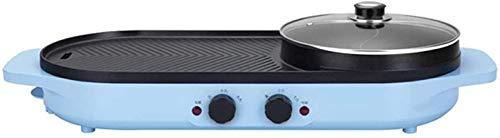 Parrilla eléctrica portátil, 2 en 1 2000W eléctrico Hot Hot Horno Horno...
