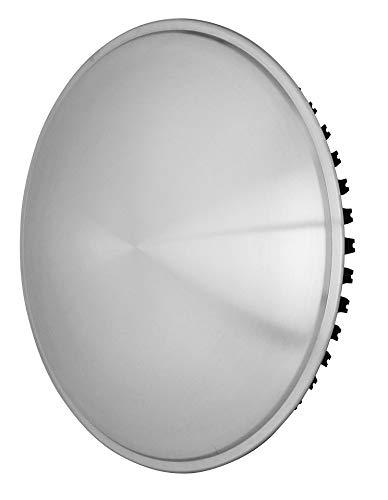 Universell passende Edelstahl gebürstete Radzierblende (1 Stück) 13 Zoll - Moon Caps für PKW, Oldtimer und Youngtimer~