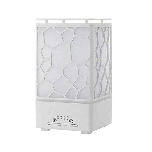 BBGSFDC Cubo de Agua de aromaterapia ultrasónico Máquina 200ML Aceite Esencial del difusor del humectador con la luz Colorida de la Noche, humidificadores Vicks Negros for el hogar (Color : White)